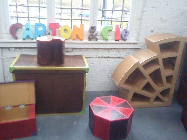 Creation meuble en carton for Creation meuble carton